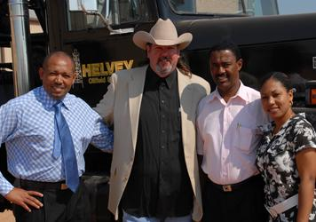 Michael W. Helvey and the Representatives from Tanzania